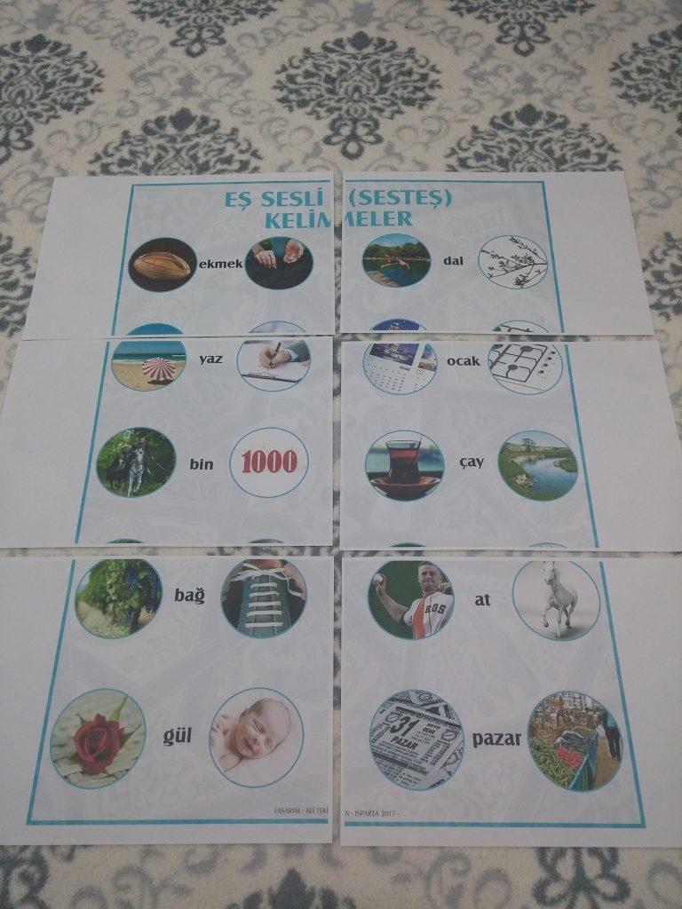 Eş Sesli Kelimeler Posteri Ali öğretmen Materyal Tasarım