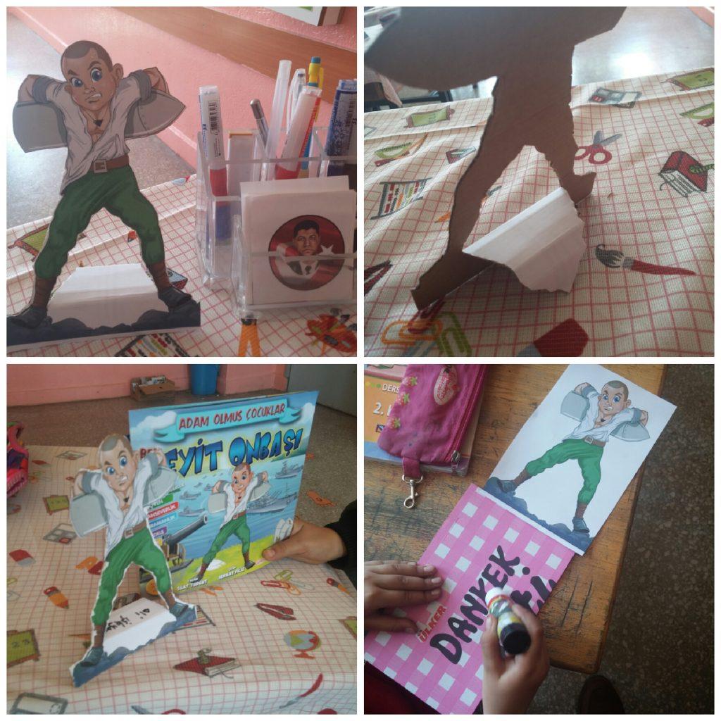 Seyit Onbaşı Maketi Ali öğretmen Materyal Tasarım